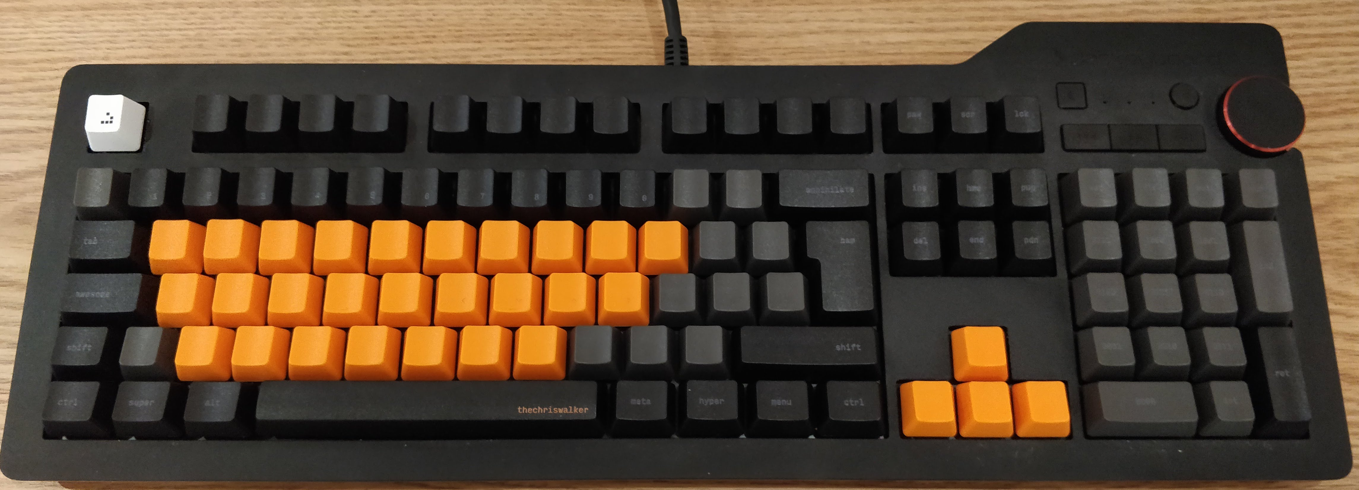 Keycaps in place